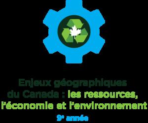 Une roue incluant un symbole de recyclage et le signe du Canada